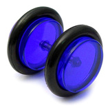 Acrylic Fake Plugs Blue / Medium - 6mm diameter Disks