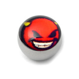 Steel Logo Balls - Pictures 1.6mm, 6mm, Cheeky Devil