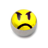 Steel Logo Balls - Pictures 1.6mm, 6mm, Angry Face