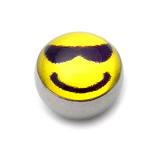 Steel Logo Balls - Pictures 1.6mm, 6mm, Cool Smiley