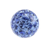 Smooth Glitzy Threaded Balls - one only 1.2mm, 3mm, Sapphire