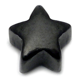 Black Steel Threaded Star 1.2mm gauge, width is 3.6mm.