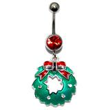 Belly Bar - Christmas (XMAS) XMAS-12 - Christmas Wreath