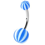 Acrylic Beach Belly Bars 1.6x10mm (most popular) / blue
