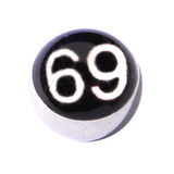 Steel Logo Balls - Words Sixty Nine