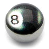 Steel Logo Balls - Words 8 Ball