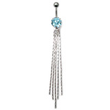 Belly Bar - The Comet - Dangly Chains (XA63) Light Blue
