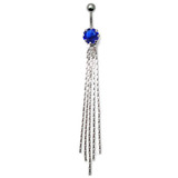 Belly Bar - The Comet - Dangly Chains (XA63) Sapphire