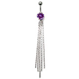 Belly Bar - The Comet - Dangly Chains (XA63) Purple