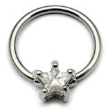 Crystal Star BCR - Nipple Ring 1.6mm, 16mm