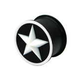 Silicone Star Plug 18 / White star - Hollow