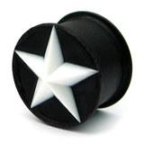 Silicone Star Plug 10 / White star