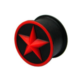 Silicone Star Plug 14 / Red star - Hollow