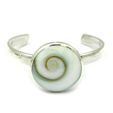 Silver Toe Ring Circle. Shivas Eye Shell