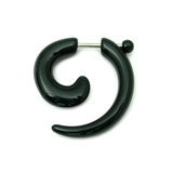 Acrylic Fake Spiral Stretchers (Screw Fit) black / Small: Acrylic fake spiral expander. Apparent max gauge is 4mm.
