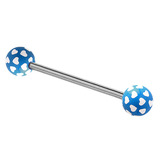 Acrylic Multi-Heart Barbell (NEW) 1.6mm, 14mm (most popular length), 6mm, Blue