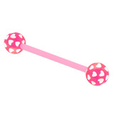 Acrylic Multi-Heart Flex Barbell (NEW) 1.6mm, 14mm (most popular length), 6mm, Pink