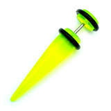 Acrylic Plain Fake Stretchers Green / Large: Acrylic straight fake expander. Apparent max gauge is 8mm.
