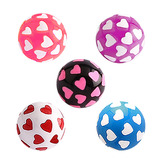 Acrylic Multi-Heart Ball (NEW) All 5 ball colours / 6mm