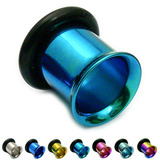 Titanium Flared Eyelets 4mm, Turquoise