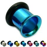 Titanium Flared Eyelets 8mm, Turquoise