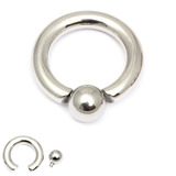 Steel BCR with Screw-in Ball 5mm, 19mm, (10mm)