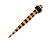 Acrylic Black Stripes Stretchers 3 / Orange