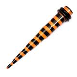 Acrylic Black Stripes Stretchers 8 / Orange