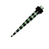 Acrylic Black Stripes Stretchers 4 / Green