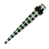 Acrylic Black Stripes Stretchers 8 / Green