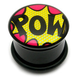Acrylic Comic Plug POW / 12