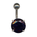Belly Bar - Large Round Claw Set (XA32) (8mm length) Jet Black