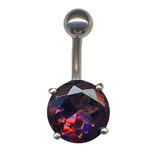 Belly Bar - Large Round Claw Set (XA32) (8mm length) Purple