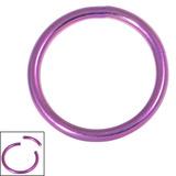 Titanium Smooth Segment Ring 1.2mm, 10mm, Purple