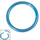 Titanium Smooth Segment Ring 1.2mm, 10mm, Turquoise