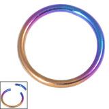 Titanium Smooth Segment Ring 1.2mm, 10mm, Rainbow