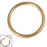 Titanium Smooth Segment Ring 1.6mm, 10mm, Gold