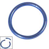 Titanium Smooth Segment Ring 1.2mm, 10mm, Blue