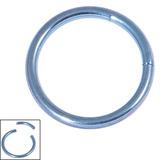 Titanium Smooth Segment Ring 1.6mm, 12mm, Ice Blue