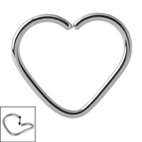 Steel Continuous Heart Rings 1.0mm, 10mm