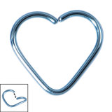 Titanium Coated Steel Continuous Heart Twist Rings - SKU 19650