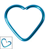 Titanium Coated Steel Continuous Heart Twist Rings - SKU 19660