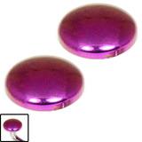 Titanium Threaded Attachment - Disks 1.2mm Pinky-purple (Pair)