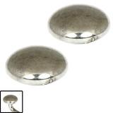 Titanium Threaded Attachment - Disks 1.6mm 5mm, High Polish (Pair)