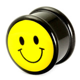 Acrylic Logo Plugs 16-20mm 18 / Smiley
