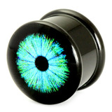 Acrylic Logo Plugs 16-20mm 18 / Cyber Eye Blue