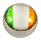 Steel Logo Balls - Pictures 1.6mm, 6mm, Irish Flag (Eire)
