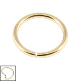 Zircon Steel Continuous Rings (Gold colour PVD) 0.8mm, 9mm
