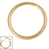 Zircon Steel Smooth Segment Rings (Gold colour PVD) 1.6mm, 10mm