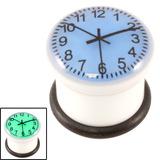 Acrylic Glow in Dark Clock Plug Blue Clock / 12